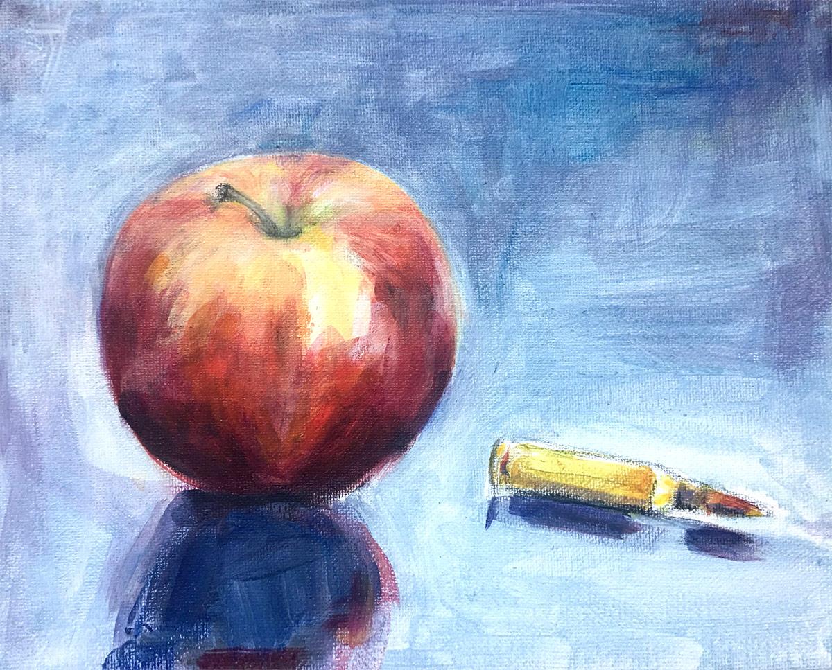 Apple, Bullet: acrylic